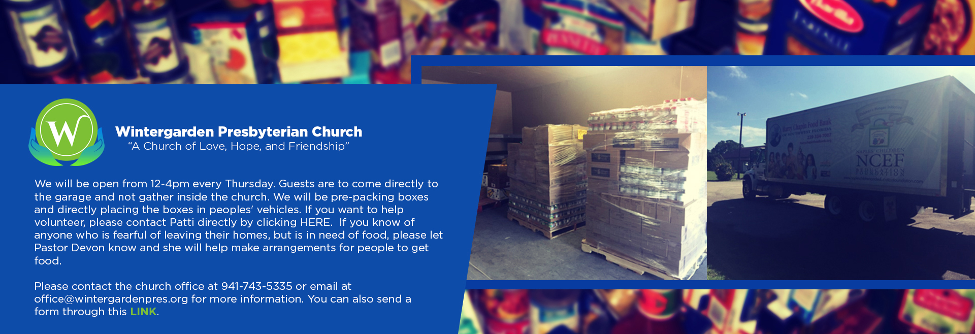 March – Food Pantry
